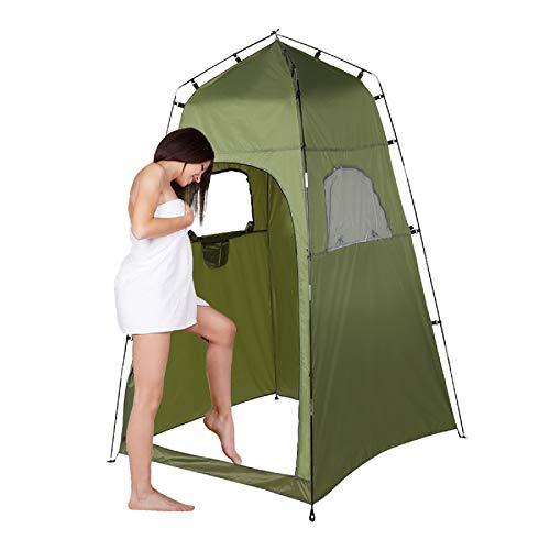 SOONHUA - Tienda de campaña para ducha de privacidad, portátil, para exteriores, camping, refugio de playa, inodoro, privacidad para cambiador, 120 x 120 x 195 cm