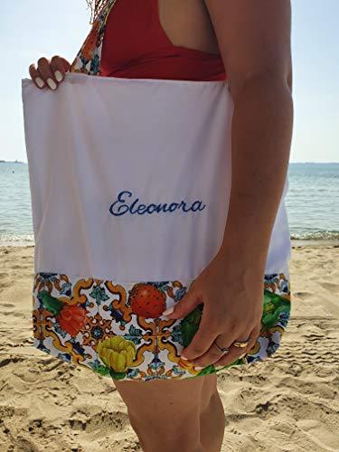 Handgefertigt Damen Schultertasche personalisiert Umhängetasche Elegant Shopper Tasche einkaufstasche Strandtasche mit namen Monogramm handmade