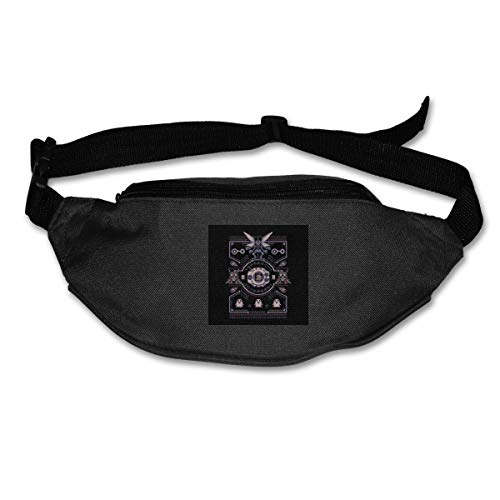 HKUTKUFGU Fanny Pack For Women Men Christmas Dig-imon Tentomon Digivolve Knowledge 8 Bit Knit Pattern Waist Bag Pouch Travel Pocket Wallet Bum Bag For Running Cycling Hiking Workout