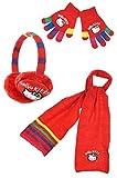 Orejeras.-Bufanda-Guantes para niña, diseño de Hello kitty, multicolor, TU