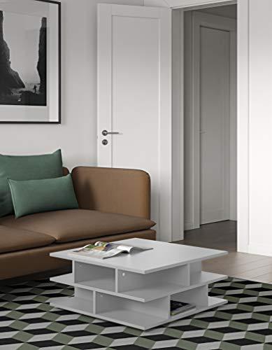 Table Basse Contemporain Multicases Blanc 70 x 70 x 28,9 cm, 2130A2100X00