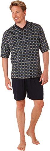 Betz 2 teiliger Herren Schlafanzug Pyjama kurz 100% Baumwolle Farbe: Marine Größen: 48-58 Größe 50