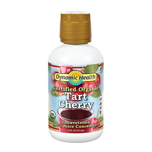 Dynamic Health Organic Tart Cherry Juice Concentrate | 100% Pure | 16 Servings