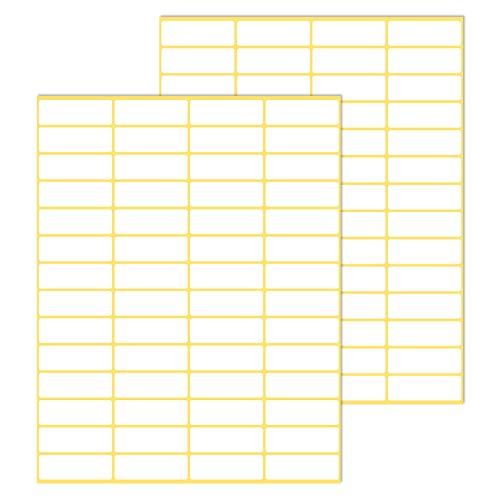 You&Lemon 1680 Stück Etiketten Selbstklebend, 38 x 13 mm, Blanko Aufkleber Klebeetiketten für Haushalt, Schule und Büro, Weiß