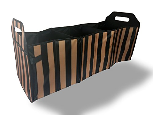 Sachi Insulated Trunk Organizer with Dividers (Stripe)