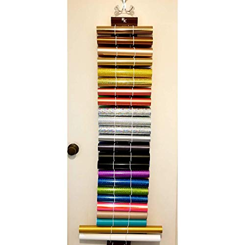 Vinyl Roll Holder, Diamond Painting, 24 Roll Capacity, Maroon, by The Roll Keeper