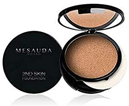 Mesauda Milano Fondotinta Compatto Crema-Polvere 2Nd Skin Foundation, 105 Caramel - 10 gr