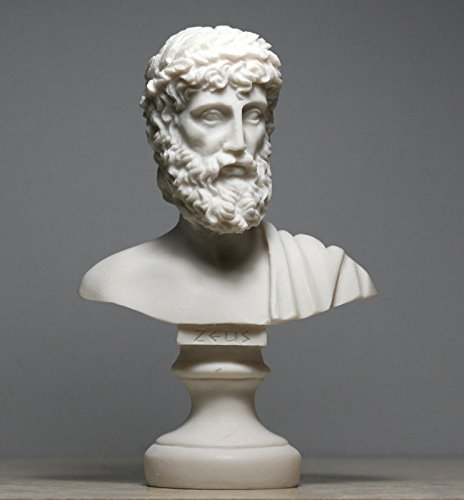 ZEUS Vater König der Götter Alabaster Brustumfang Kopf Statue Skulptur Figur Decor 16cm