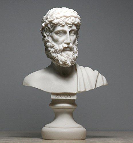 Figura decorativa Zeus padre rey de los dioses de alabastro, diseño de cabeza de alabastro, 16 cm