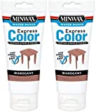 Minwax 308044444 Express Color Wiping Stain and Finish, Mahogany 6OZ 2 Pack
