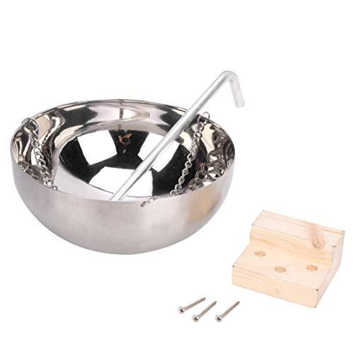 Kuuleyn Saunaschale, 20 cm Sauna Aromatherapie-Schüssel aus rostfreiem Stahl Halter für ätherische Öle Saunaraumzubehör