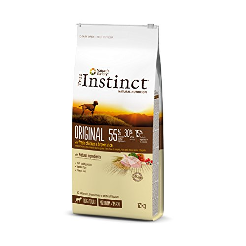 True Instinct Original Pienso para Perros Adultos Medium-Maxi con Pollo - 12...