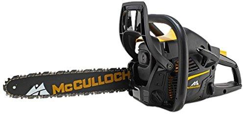 """McCULLOCH 967326201 - Motosierra térmica CS 340. Potencia del motor: 1,26kw / Cilindrada: 34 cc. Longitud espadín: 14""""/ 35cm, Paso de cadena; 3/8"""". Peso: 5,2kg. OXYPOWER. SOFT START. Porta- herramienta integrado. Tensor de cadena lateral"""