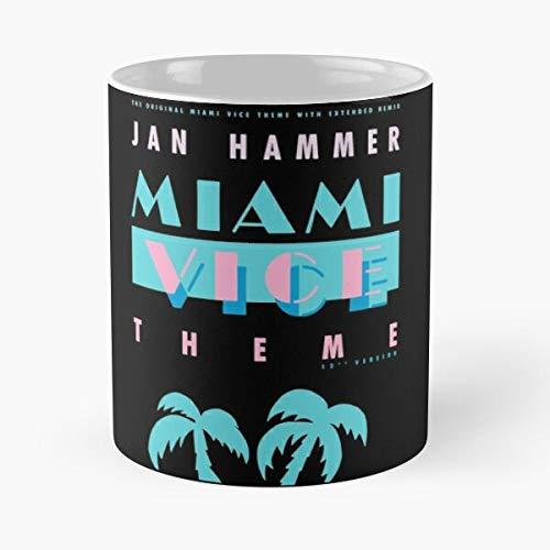 Crocketts Hammer Thomas Johnson Jan Miami Don Philip Somebody Tubbs Michael Crockett Vice Theme Sonny Best 11 oz Kaffeebecher - Nespresso Tassen Kaffee Motive