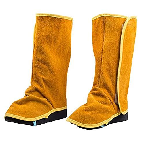 Soldada polainas, de servicio pesado de cuero cubiertas del zapato, ignífugo soldaduras 1 par, zapatos de seguridad para la facilidad de mantenimiento y seguridad