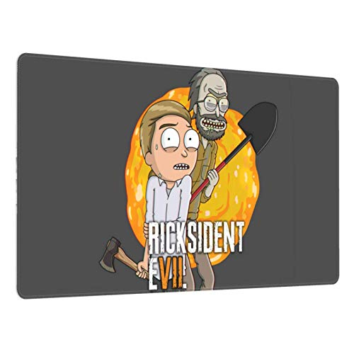 Gaming Mouse Pad,Ricksident Evil Rick N Morty , Long Extended Surface for Desktop Pc Computer Work Productivity Or Video Games, Laser Accuracy for Fast Responsiveness,16 X 30