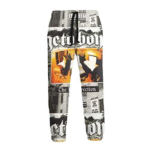 LAOLUCKY Pantalones deportivos para hombre