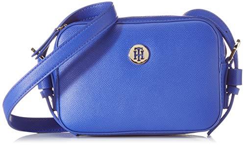 Tommy Hilfiger - Classic Saffiano Camera Bag, Bolsos bandolera Mujer, Azul (Cobalt), 6x0.1x19 cm (W x H L)