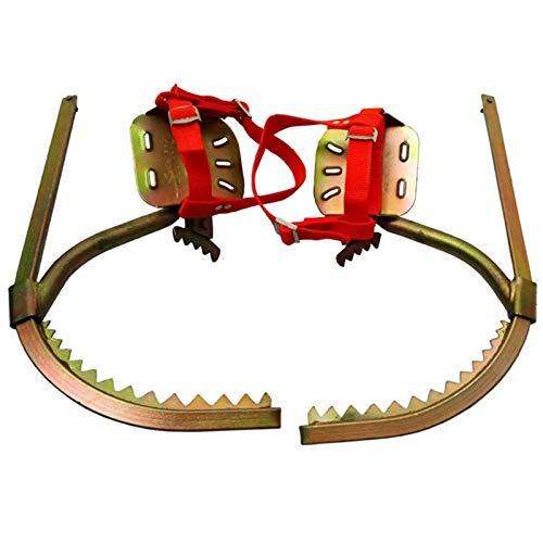 Artefacto De Árboles De Escalada con Cinturones De Seguridad Ajustable Trepar Árboles Zapatos De Uñas Crampones,60cm