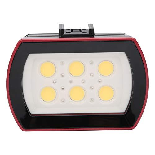 Archuu Luz de Relleno de Buceo Impermeable, luz de Relleno subacuática de 40 m / 131 pies con batería incorporada 4x18650 3000mAh 50000h Horas de Trabajo 7000-7500K para Exteriores