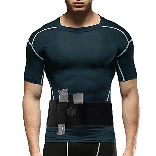 Holster Belly Band Conceal Carry Waist Belt Gun Holder Girdle Elastic Strap Men Women Handgun Full Size Adjustable Pistols Magazine Pocket