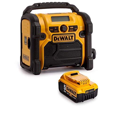 DeWALT DCR020 240V DAB FM Jobsite Digital Radio with 1 x 5Ah Battery