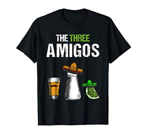The Three Amigos | Lustiges Bier Tequila Schnaps Malle Party T-Shirt