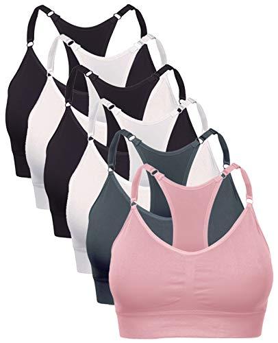 Barbra Lingerie Wireless Racerback Yoga Sports Bra Seamless Bralette Medium - Plus Size (1X)