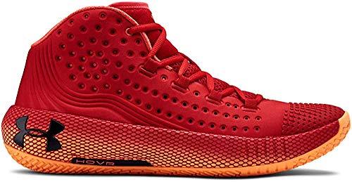 Under Armour UA HOVR Havoc 2, Zapatos de Baloncesto para Hombre, Rojo (Red/Glow Orange/Black (600) 600), 50.5 EU