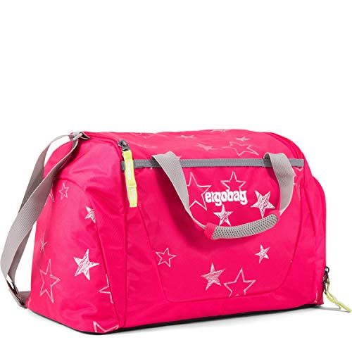 ERGOBAG CinBearella Kinder-Sporttasche, 50 cm, 20 Liter, Pink Stars
