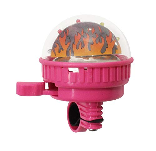 Maui Toys Kinder Fahrradklingel mit Leuchteffekt 5 LEDs Fahrrad Schelle Glocke, Farbe:Rosa, Herstellernummer:BLO110025117_ROSA