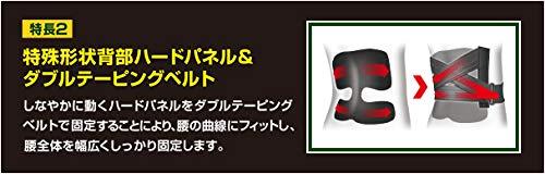 バンテリンサポーター腰椎コルセットブラックふつうサイズ胴囲(へそ周り)65~85cm
