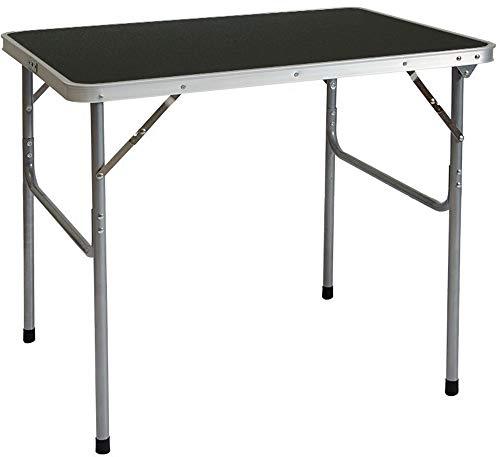 AMANKA Alu Campingtisch 80x60cm - Klapptisch Picknicktisch Leichter Falttisch Anthrazit