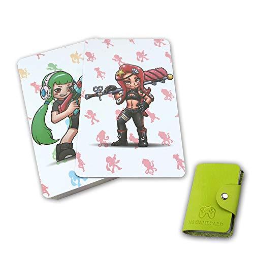 NFC Etikett Spielkarten Tag Game Cards für Splatoon 2 , 16Stk. Botw Karten Cards mit Kartenhalter kompatibel mit Nintendo Switch / Wii U