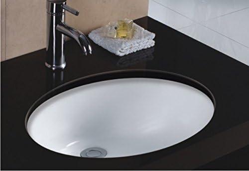 Wells Sinkware Oval 19 X 16 Ceramic Undermount Bathroom Sink Vanity White Amazon Com