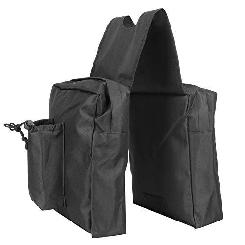 Alforjas para motocicleta, bolsa UTV de gran capacidad de tela Oxford, bolsa de almacenamiento de vehículos duradera resistente al desgaste, para todas sus necesidades de viaje al aire libre(Negro)
