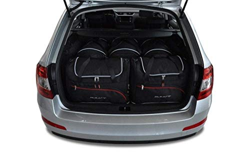 KJUST Dedizierte Taschen 5 STK Set kompatibel mit Skoda Octavia Kombi III 2013 -