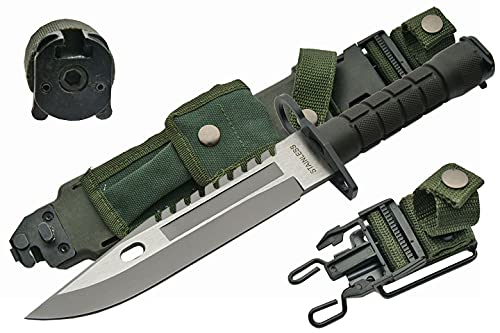 """SZCO Supplies 13"""" M-9 Bayonet Military Style Tactical Saw Back Knife"""