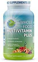 Supplements Studio Daily Vegan Whole Food Multivitamin Plus for Men & Women, with Iron, Organic Fruits and Vegetables, B-Complex, Probiotics, Enzymes, CoQ10, Omegas, Turmeric, All Natural, Non-GMO