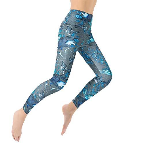 Leggings Frauen Nahtlose Yoga Fitness Laufen Sport Hohe Taille Hosen Hose (S,11Blau)