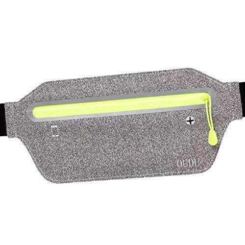 BUZZxSELECTION(バズ セレクション) バッグ ウエストポーチ 収納 イヤホンジャック スマホ 携帯 ランニング スポーツ AC139 (02.グレー)