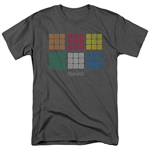 JieYanLufusi Camiseta de cubo de Rubik con cuadrados envejecidos