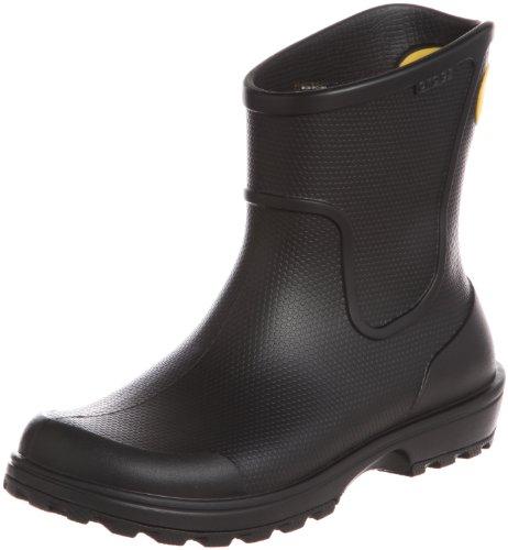 Crocs Wellie Rain Boot Men, Herren Gummistiefel, Schwarz (Black), 39/40 EU