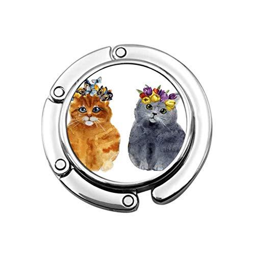 Gancho para Bolso con Cara Divertida para Gatos y Perros, Soporte para Bolsos, diseños únicos, sección Plegable, Almacenamiento