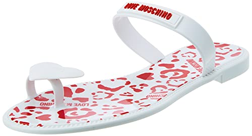 Love Moschino, Sandales pour femme, collection Primavera Estate 2021 - - Blanc, 41 EU EU