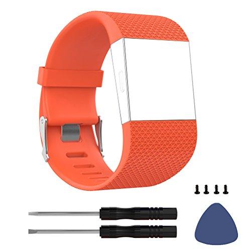 DD para Fitbit Surge Correas, Silicona Ajustable Correa de Repuesto para Fitbit Surge Activity Trackers