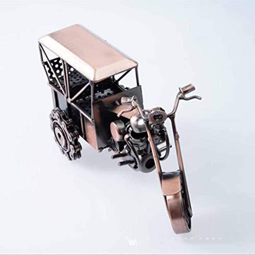 HURONG168 Autos Fahrzeuge Spielzeug Antikes Schmiedeeisen-Dreirad-Motorrad antikes Dreirad-Oldtimer-Anti-Rutsch-Dreirad-Oldtimer-Modell handgemachtes Handwerk Automodell-Sammlung