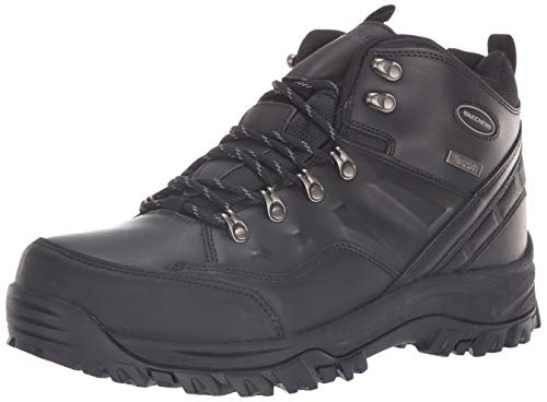 multi purpose skechers hiking boots Men's Hiking Shoes Skechers RELMENT-TRAVEN, BBK, 10 Medium US