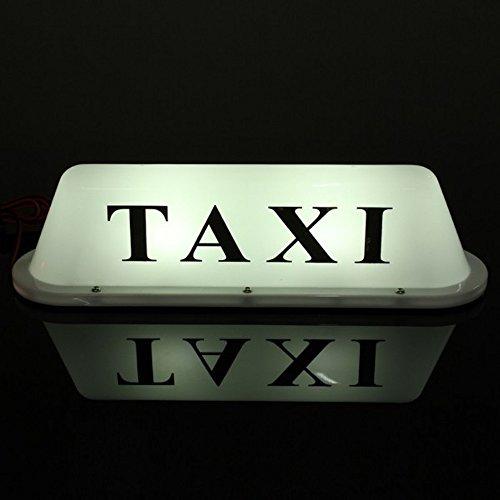 MFPower Segnale luminoso impermeabile con lampada LED e base magnetica per il tetto del taxi
