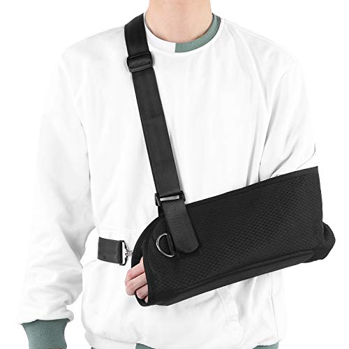 Arm Sling, Breathable Adjustable Mesh Forearm Fracture Fixation Stable Sling Support, for Relieving Arm Shoulder Pain